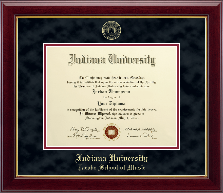 Indiana University Bloomington Gold Embossed Diploma Frame in ...