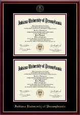 Indiana University of Pennsylvania Diploma Frame - Double Diploma Frame in Galleria
