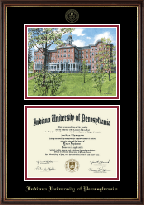 Indiana University of Pennsylvania Diploma Frame - Campus Scene Diploma Frame in Williamsburg