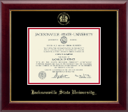 Jacksonville State University Diploma Frame - Pre-Dec 2015- Gold Embossed Diploma Frame in Gallery