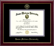 James Madison University Diploma Frame - Gold Embossed Diploma Frame in Gallery