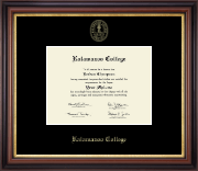 Kalamazoo College Diploma Frame - Gold Embossed Diploma Frame in Regency Gold