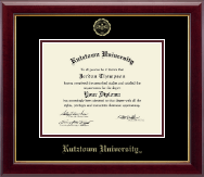 Kutztown University Diploma Frame - Gold Embossed Diploma Frame in Gallery