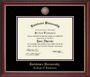 Kutztown University Diploma Frame - Masterpiece Medallion Diploma Frame in Kensington Gold