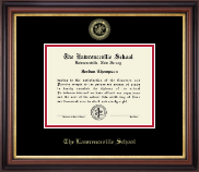 The Lawrenceville Prep School Diploma Frame - Gold Embossed Diploma Frame in Regency Gold