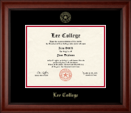 Lee College Diploma Frame - Gold Embossed Diploma Frame in Cambridge