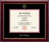 Lee College Diploma Frame - Gold Embossed Diploma Frame in Gallery