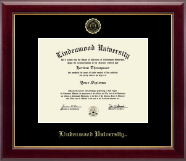 Lindenwood University Diploma Frame - Gold Embossed Diploma Frame in Gallery