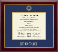 Luther College Diploma Frame - Gold Embossed Diploma Frame in Gallery