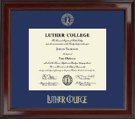 Luther College Diploma Frame - Gold Embossed Diploma Frame in Encore