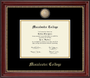 Macalester College Diploma Frame - Masterpiece Medallion Diploma Frame in Kensington Gold