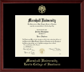Marshall University Diploma Frame - Gold Embossed Diploma Frame in Camby