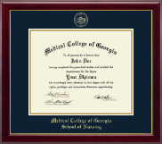 Medical College of Georgia Diploma Frame - Gold Embossed Diploma Frame in Gallery