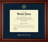 Medaille College Diploma Frame - Gold Embossed Diploma Frame in Cambridge