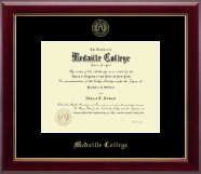 Medaille College Diploma Frame - Gold Embossed Diploma Frame in Gallery