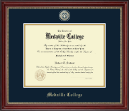 Medaille College Diploma Frame - Masterpiece Medallion Diploma Frame in Kensington Gold