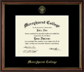 Mercyhurst College Erie Diploma Frame - Gold Embossed Diploma Frame in Williamsburg