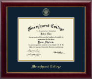 Mercyhurst College North East Diploma Frame - Gold Embossed Diploma Frame in Gallery