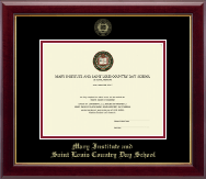 Mary Institute and Saint Louis Country Day School Diploma Frame - Gold Embossed Diploma Frame in Gallery
