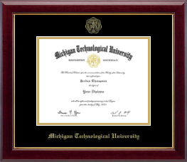 Michigan Technological University Diploma Frame - Gold Embossed Diploma Frame in Gallery