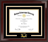 Michigan Technological University Diploma Frame - Spirit Medallion Diploma Frame in Encore
