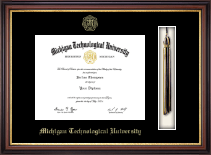 Michigan Technological University Diploma Frame - Tassel Diploma Frame in Regency Gold