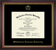 MidAmerica Nazarene University Diploma Frame - Gold Embossed Diploma Frame in Regency Gold
