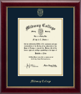 Midway College Diploma Frame - Gold Embossed Diploma Frame in Gallery
