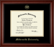 Millersville University of Pennsylvania Diploma Frame - Gold Embossed Diploma Frame in Cambridge