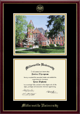 Millersville University of Pennsylvania Diploma Frame - Campus Scene Edition Diploma Frame in Galleria