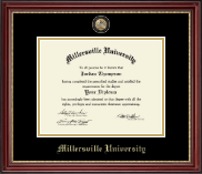 Millersville University of Pennsylvania Diploma Frame - Masterpiece Medallion Diploma Frame in Kensington Gold