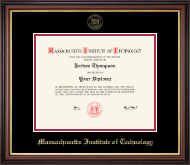 Massachusetts Institute of Technology Diploma Frame - Gold Embossed Diploma Frame in Regency Gold