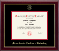 Massachusetts Institute of Technology Diploma Frame - Gold Embossed Diploma Frame in Gallery