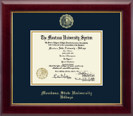 Montana State University Billings Diploma Frame - Gold Embossed Diploma Frame in Gallery