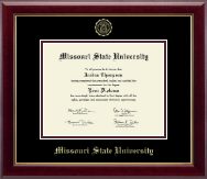 Missouri State University Diploma Frame - Gold Embossed Diploma Frame in Gallery