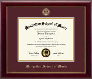 Manhattan School of Music Diploma Frame - Gold Embossed Diploma Frame in Gallery