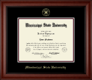 Mississippi State University Diploma Frame - Gold Embossed Diploma Frame in Cambridge