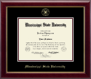 Mississippi State University Diploma Frame - Gold Embossed Diploma Frame in Gallery