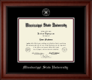 Mississippi State University Diploma Frame - Silver Embossed Diploma Frame in Cambridge