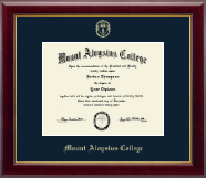 Mount Aloysius College Diploma Frame - Gold Embossed Diploma Frame in Gallery