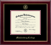 Muhlenberg College Diploma Frame - Gold Embossed Diploma Frame in Gallery