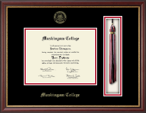 Muskingum College Diploma Frame - Tassel Edition Diploma Frame in Newport