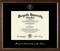 Maryville University of St. Louis Diploma Frame - Gold Embossed Diploma Frame in Williamsburg