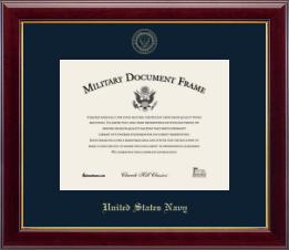 United States Navy Certificate Frame - Gold Embossed Certificate Frame in Gallery