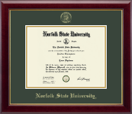Norfolk State University Diploma Frame - Gold Embossed Diploma Frame in Gallery