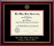 The Ohio State University Diploma Frame - Gold Embossed Diploma Frame in Gallery