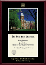 The Ohio State University Diploma Frame - Campus Scene Edition Diploma Frame in Galleria