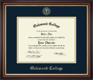 Oakwood College Diploma Frame - Gold Embossed Diploma Frame in Regency Gold