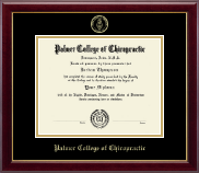 Palmer College of Chiropractic Iowa Diploma Frame - Gold Embossed Diploma Frame in Gallery