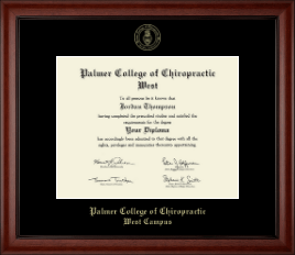 Palmer College of Chiropractic West Campus Diploma Frame - Gold Embossed Diploma Frame in Cambridge